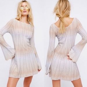 Free People Bella Sweater Mini Dress Size M